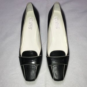 FRANCO SARTO Loafer Pumps Black White Shoe